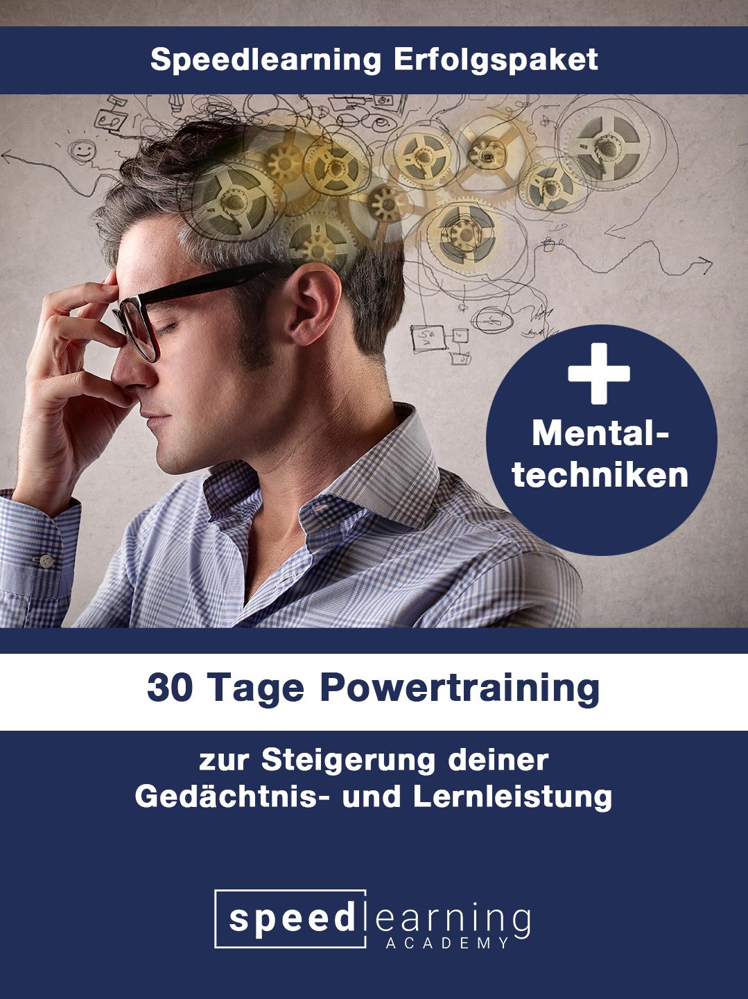 Speedlearning Erfolgspaket 30 Tage Gedächtnistraining, das dir hilft eine mentalen Fähigkeiten innerhalb kurzer Zeit zu verbessern.